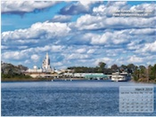 Approach to Magic Kingdom across the water