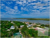 Mantanzas Inlet viewed from the St Augustine Lighthouse
