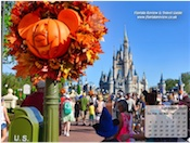 Halloween decorations at Disney's Magic Kingdom