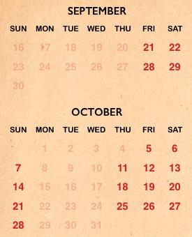 Busch Gardens Halloween Howl-O-Scream calendar for 2018
