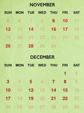 Mickey's Very Merry Christmas Party 2017 calendar