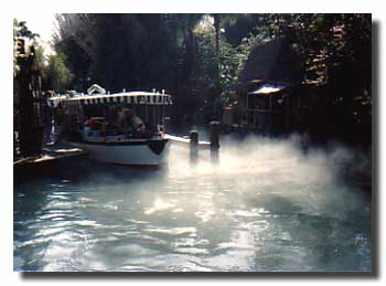 Disney's Jungle Cruise approaching the dock
