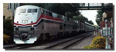 Amtrak Silver Meteor passing Church Street Station, Orlando