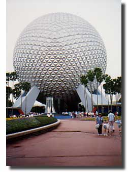 Epcot entrance in the past