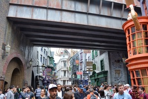 Diagon Alley crowds