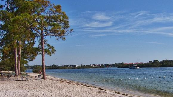 Anclote Park Beach in the Spring
