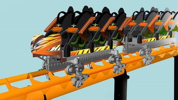 Busch Gardens Tigris Roller Coaster artwork [© Busch Gardens. All rights reserved]