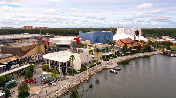 Aerial view of West Side from Characters in Flight balloon
