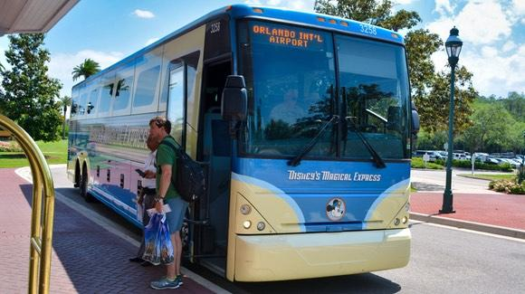 Disney's Magical Express Bus outside Grand Floridian  [© 2021, floridareview.co.uk, all rights reserved]