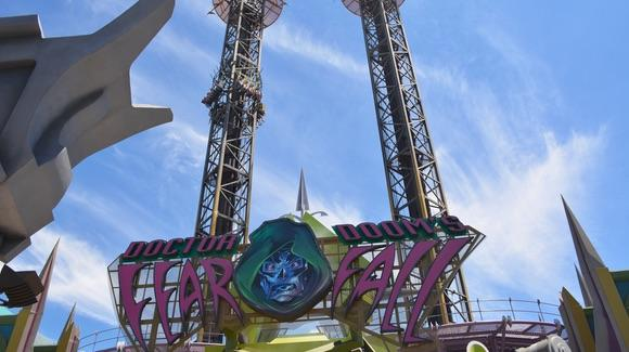 Doctors Doom's Fear Fall drop tower ride at Universal's Islands of Adventure