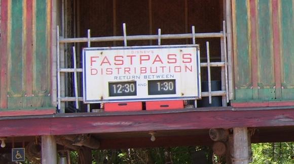 FastPass sign in Animal Kingdom