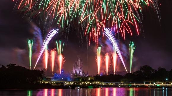 Fireworks over Disney's Magic Kingdom [© Disney. All rights reserved]