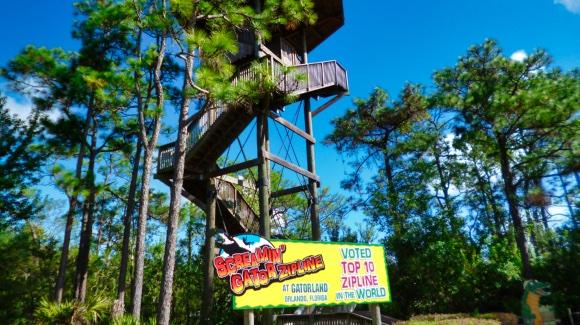 Gatorland's Screamin' Gator Zip Line  [© 2019, floridareview.co.uk, all rights reserved]