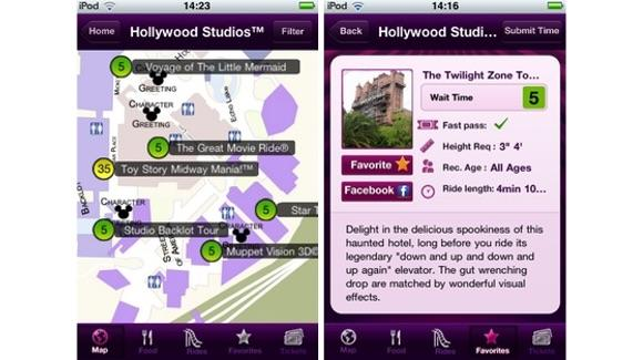 Great Apps for Walt Disney World Mobile App screens