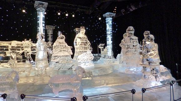 Nativity scene at Gaylord Palms ICE!