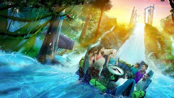 Infinity Falls [Artist Concept Rendering, © 2017 SeaWorld Parks & Entertainment Inc. All Rights Reserved]