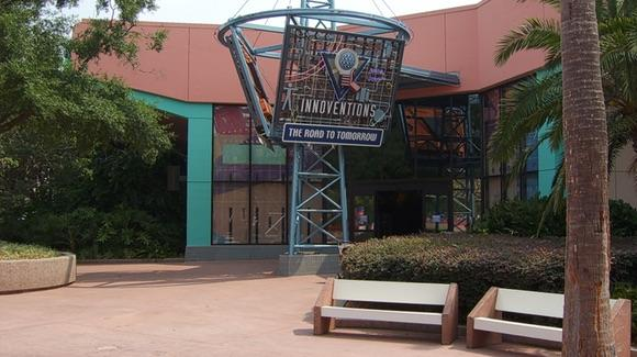 Seating outside Innoventions at Epcot