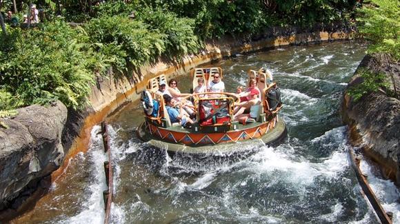Kali River Rapids water ride at Disney's Animal Kingdom
