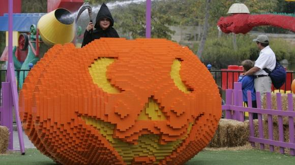 Giant Lego pumpkin at Brick-or-Treat Legoland Florida [Copyright Legoland Florida] All Rights Reserved