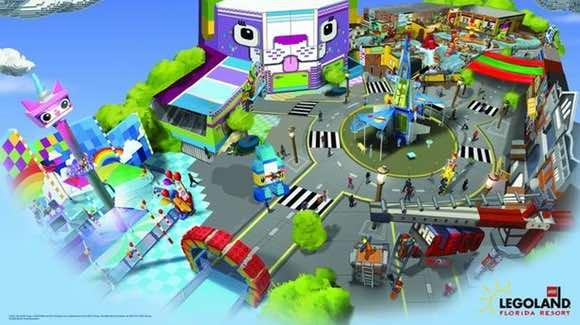 The LEGO Movie World concept art [© Merlin Entertainments Group, LEGOLAND Florida]