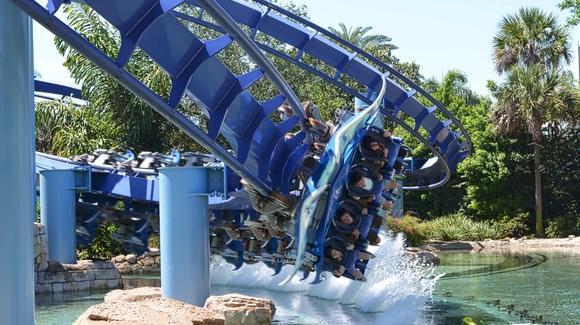 Manta roller coaster at SeaWorld