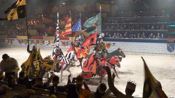 Knights on horseback at Medieval Times