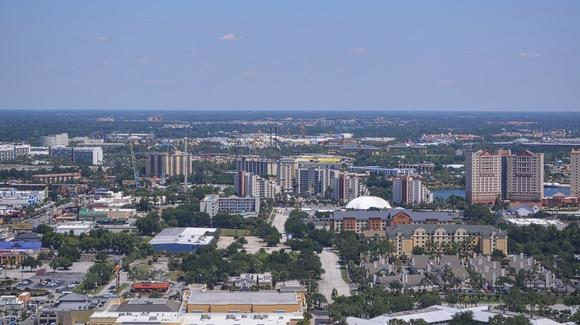 View from The Wheel at ICON Park Orlando