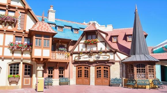 Pinocchio Village Haus quick-service restaurant at Magic Kingdom