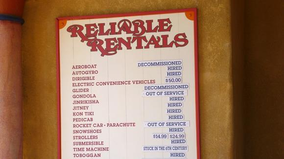 Reliable Rentals at Universal's Islands of Adventure [© 2019, floridareview.co.uk, all rights reserved]