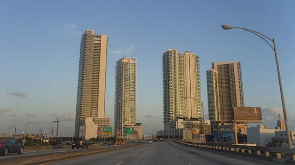Highway leading into Miami