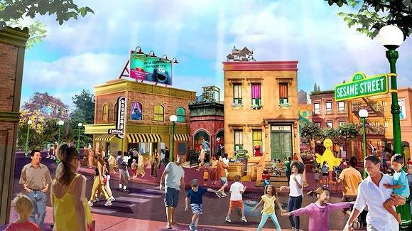 Concept art of SeaWorld's Sesame Street [© SeaWorld Parks and Entertainment, all rights reserved]