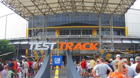 Long queues for Test Track when sponsored by GM