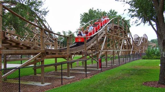 Triple Hurricane Wooden Rollercoaster