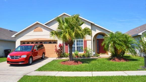 Typical Florida short term rental villa