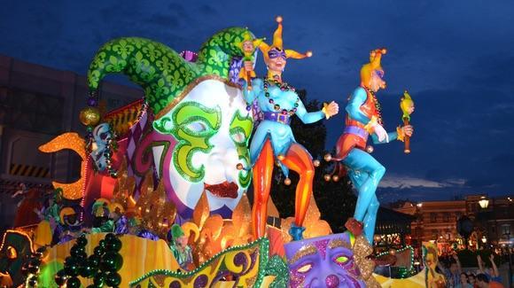 Mardi Gras parade at Universal Studios Florida