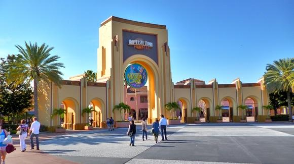 Universal Studios Florida entrance at Mardi Gras