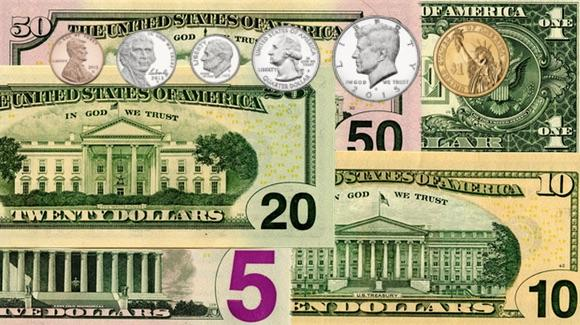 US Currency, Notes and Coins