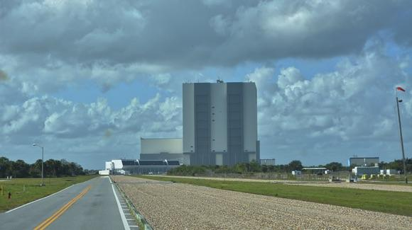 Vehicle Assembly Building (VAB) and Crawlerway at the Kennedy Space Center Visitor Complex